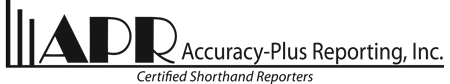 Accuracy-Plus Reporting, Inc.